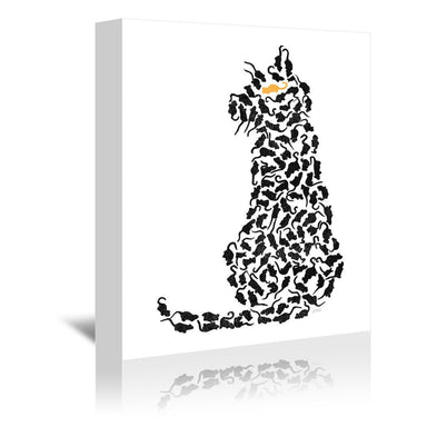 Cat And Mouse by NDTank Wrapped Canvas - Wrapped Canvas - Americanflat