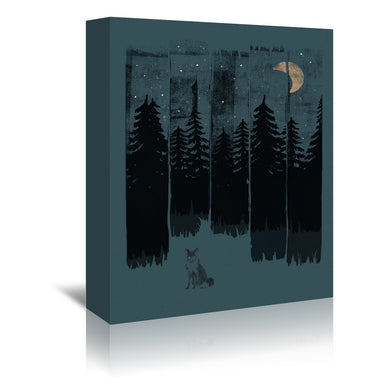 Fox In The Wild Night Rectangle3 by NDTank Wrapped Canvas - Wrapped Canvas - Americanflat