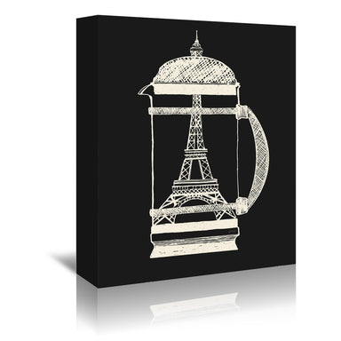 French Press by NDTank Wrapped Canvas - Wrapped Canvas - Americanflat
