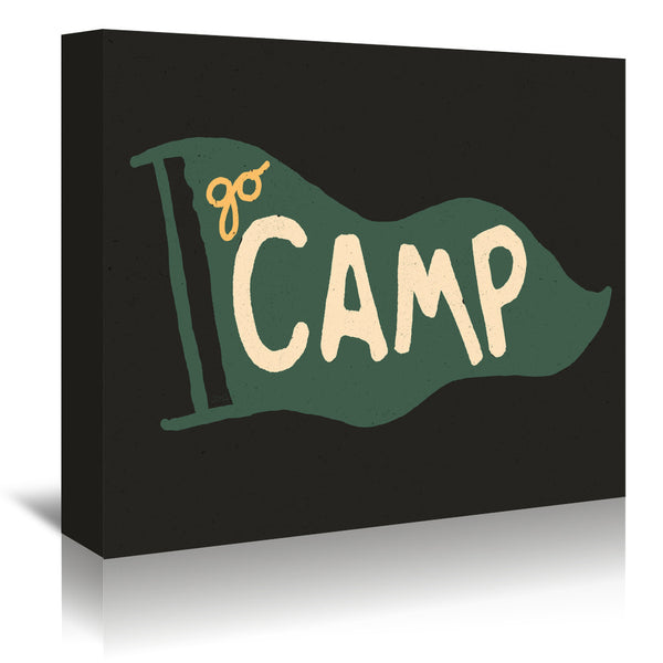Go Camp by NDTank Wrapped Canvas
