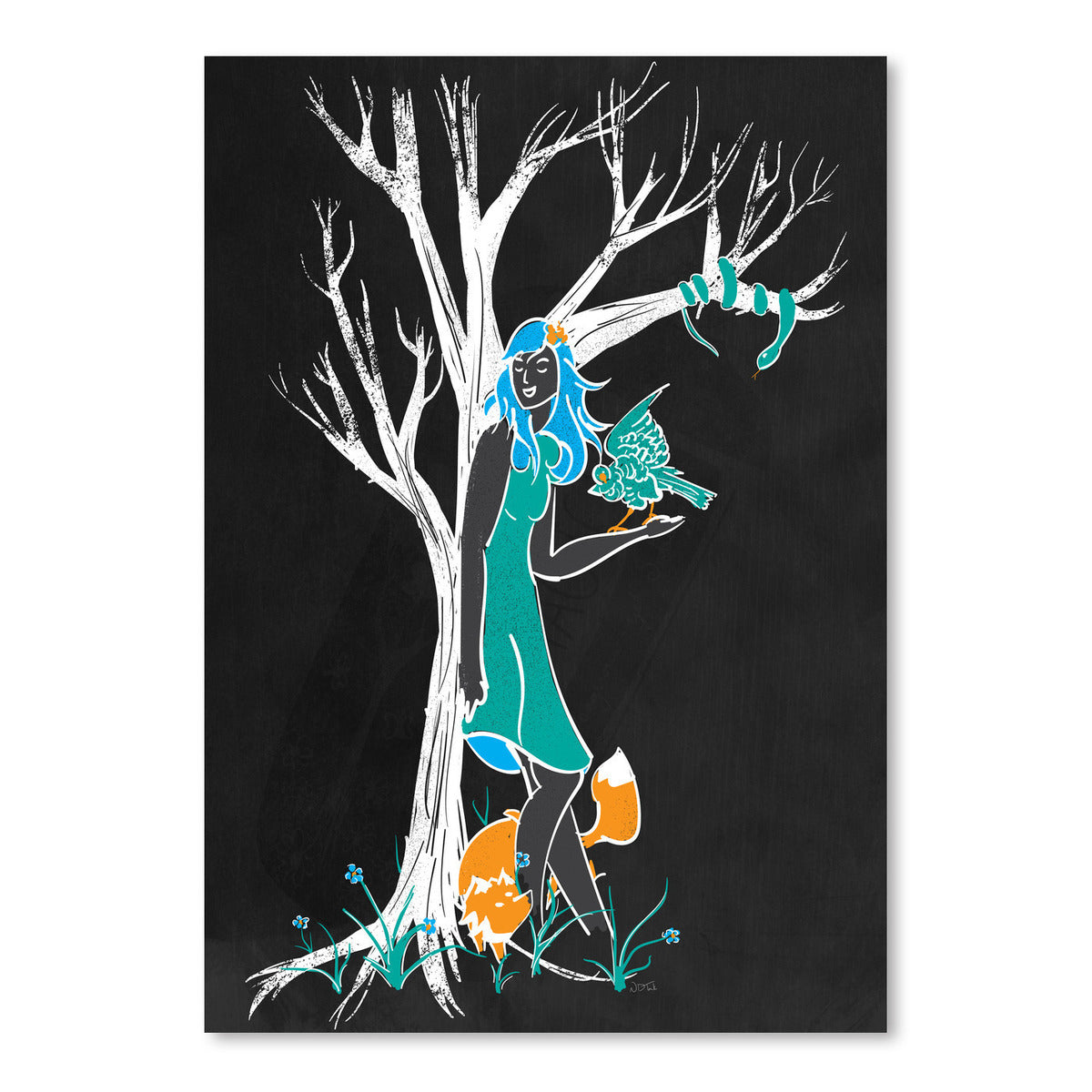 Keeper Of The Wood by NDTank Art Print - Art Print - Americanflat