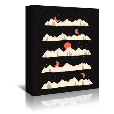 Moon Rises Moon Sets  by NDTank Wrapped Canvas - Wrapped Canvas - Americanflat