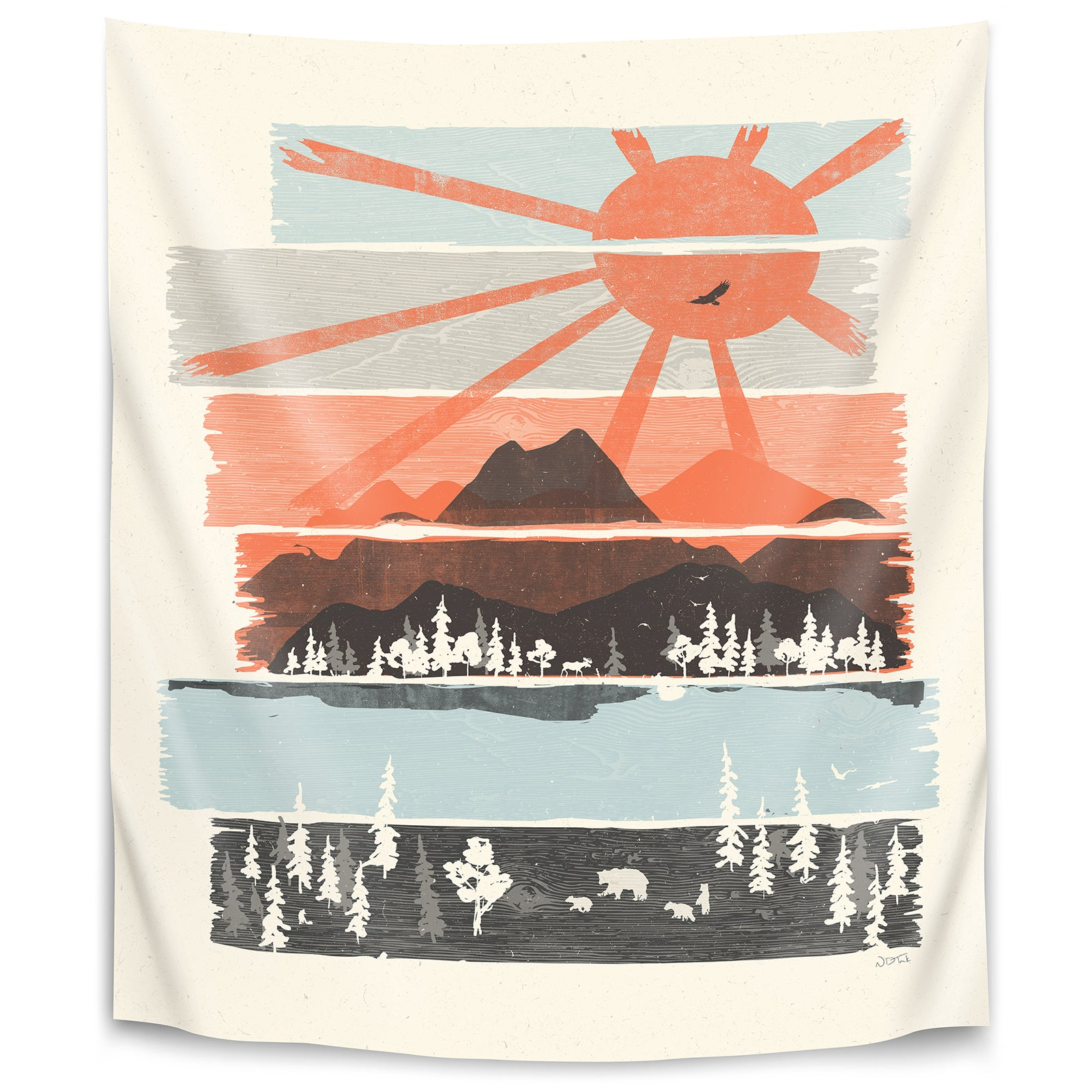 Morning By Bear River By Ndtank Tapestry Americanflat