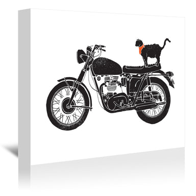 Purrfect Road Trip by NDTank Wrapped Canvas - Wrapped Canvas - Americanflat