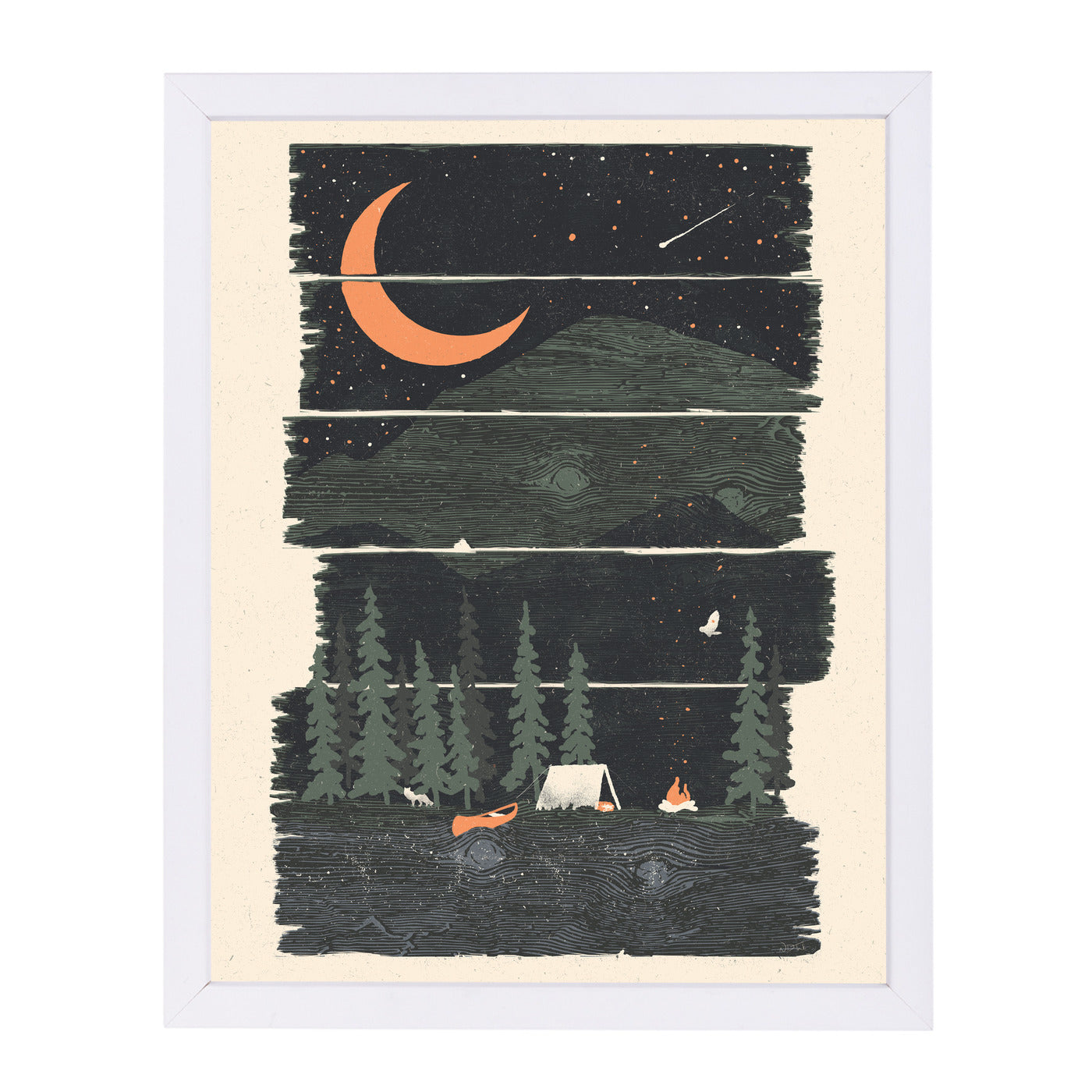 Wish I Was Camping by NDTank Framed Print - Americanflat