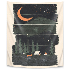 Wish I Was Camping by Ndtank Tapestry