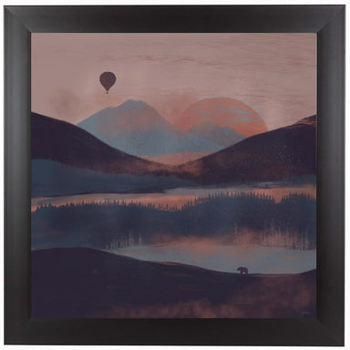 A Drift In The Mountains by NDTank Framed Print - Americanflat