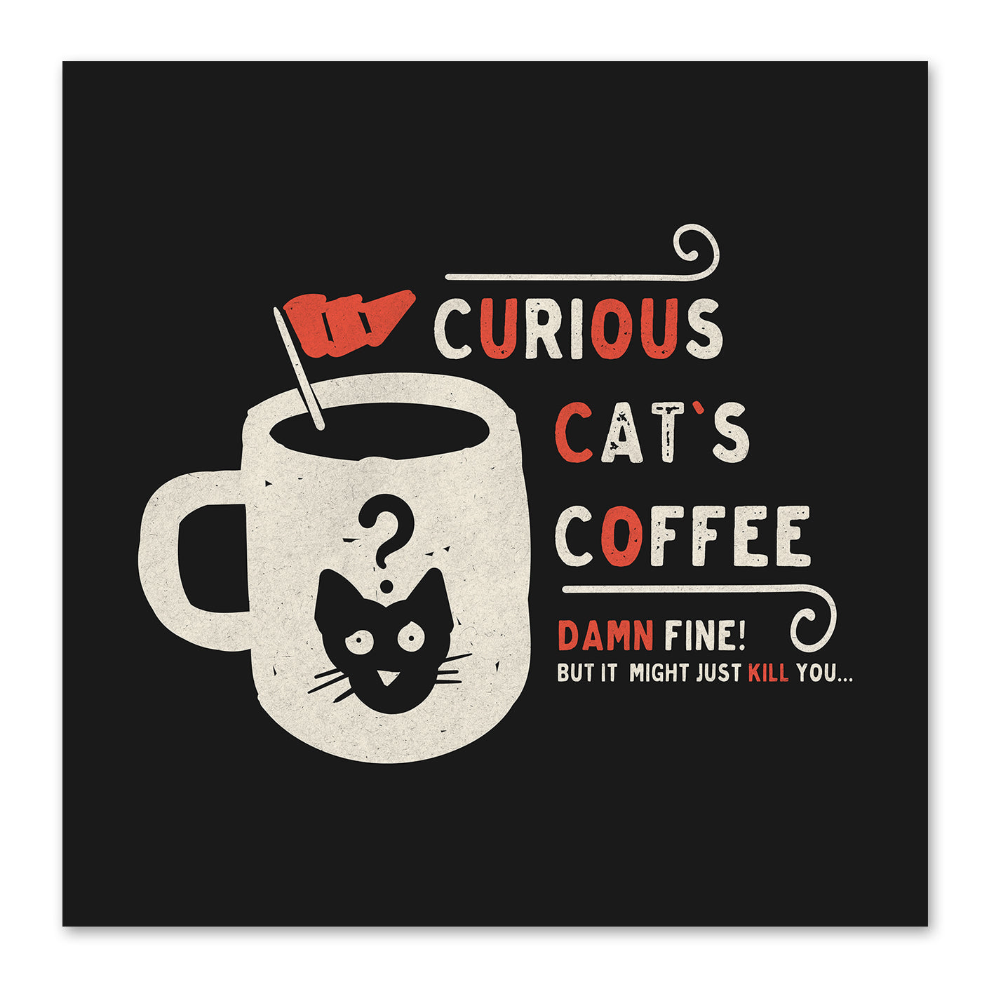 Curious Cats Coffee by NDTank Art Print - Art Print - Americanflat