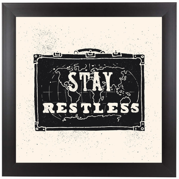 Stay Restless by NDTank Framed Print
