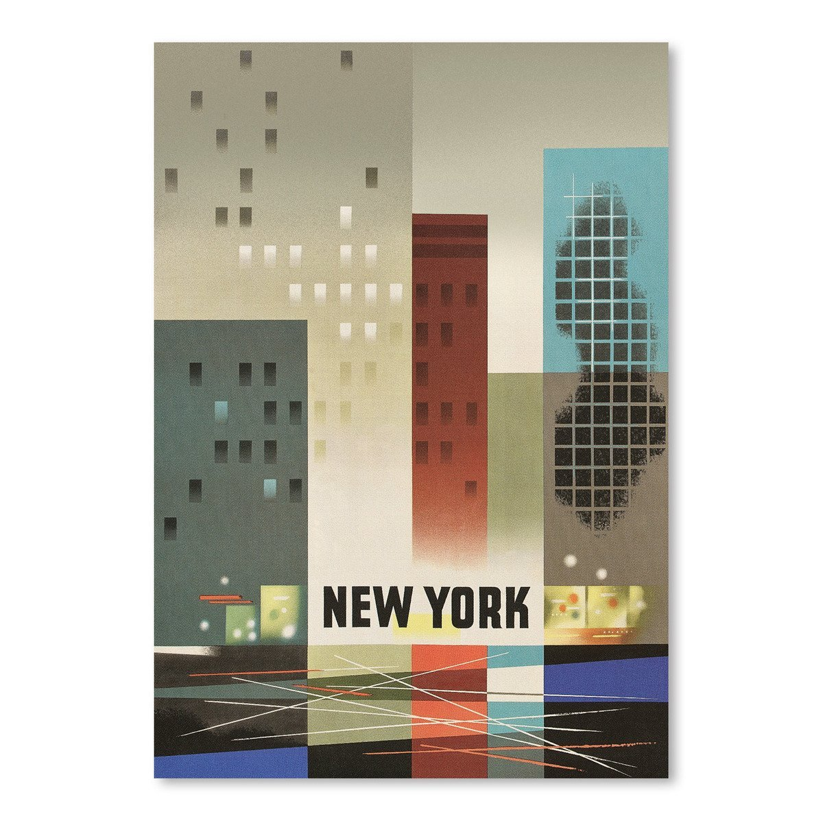 Abstract New York City by Found Image Press Art Print - Art Print - Americanflat