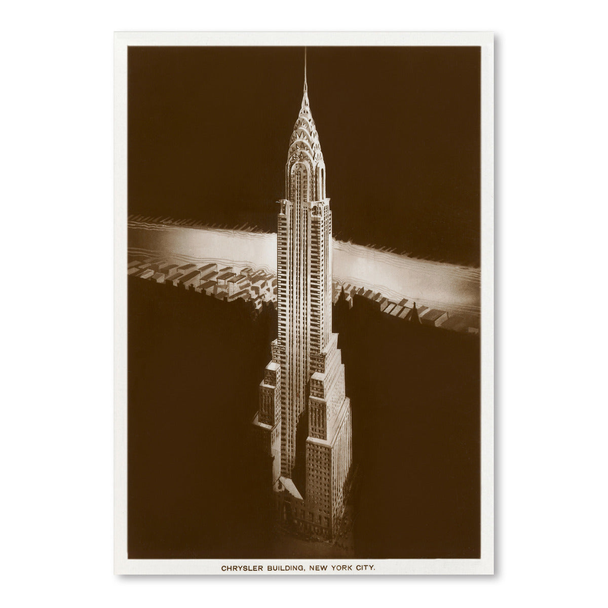 Chrysler Building Manhattan by Found Image Press Art Print - Art Print - Americanflat