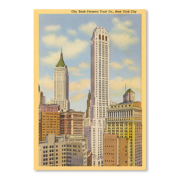 City Bank Farmers Trust Building by Found Image Press Art Print