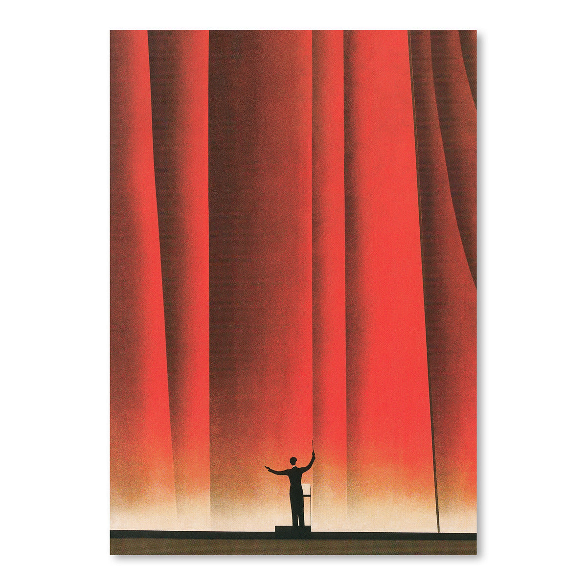 Conductor In Front Of Curtain by Found Image Press Art Print - Art Print - Americanflat