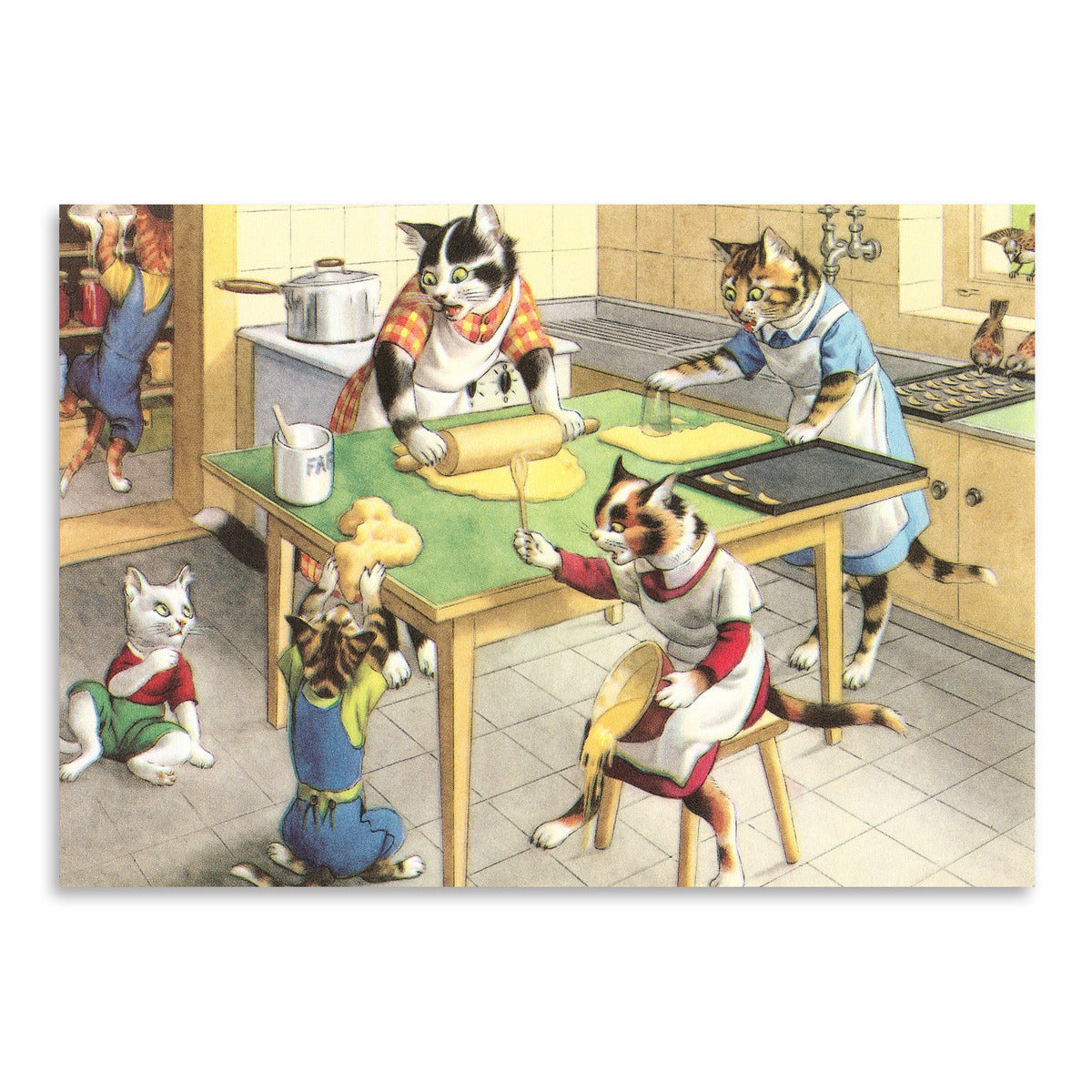 Cooking With The Crazy Cats Family by Found Image Press Art Print - Art Print - Americanflat