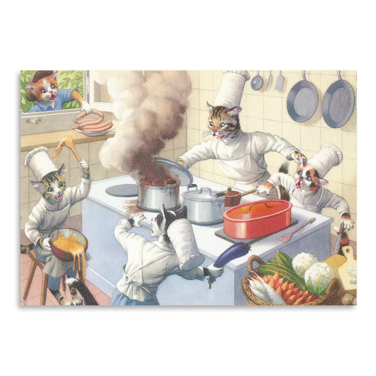 Crazy Cat Chefs In The Kitchen by Found Image Press Art Print - Art Print - Americanflat