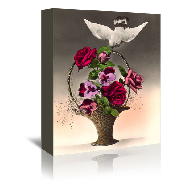 Dove With Bouquet by Found Image Press Wrapped Canvas