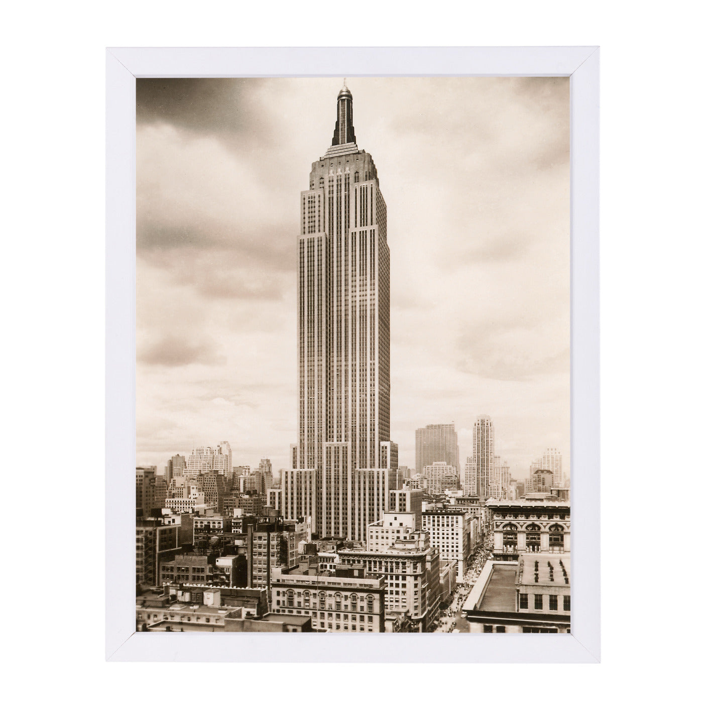 Empire State Building by Found Image Press Framed Print - Wall Art - Americanflat