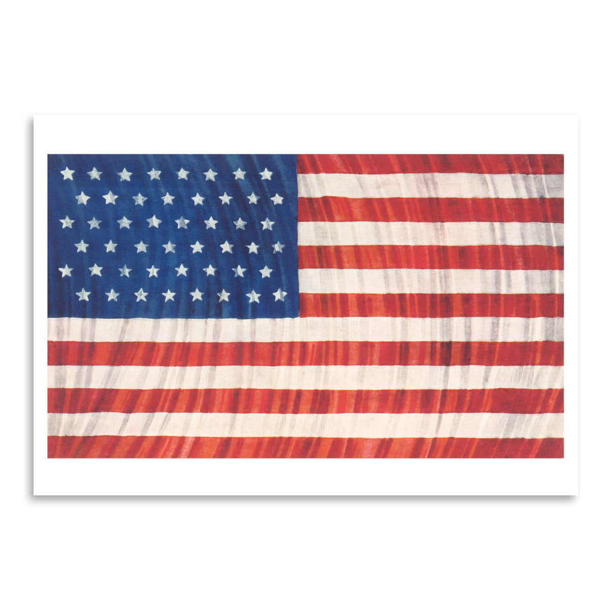 Flag And Search Lights by Found Image Press Art Print - Art Print - Americanflat
