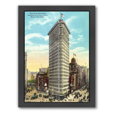 Flat Iron Building Manhattan by Found Image Press Framed Print - Wall Art - Americanflat