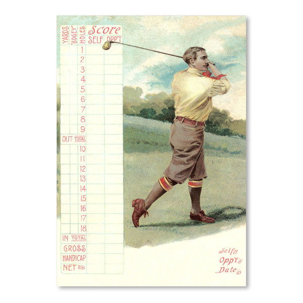 Golfer On Score Card by Found Image Press Art Print