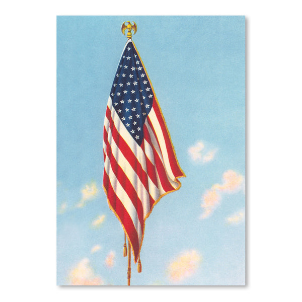Hanging American Flag by Found Image Press Art Print
