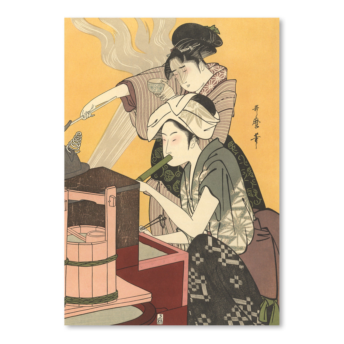 Japanese Women Cooking by Found Image Press Art Print - Art Print - Americanflat