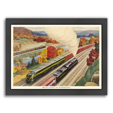 Main Lines Of Commerce by Found Image Press Framed Print - Wall Art - Americanflat