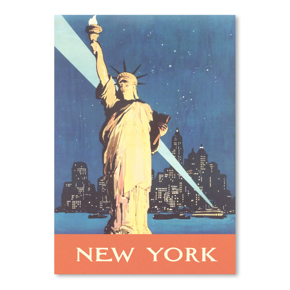 New York Travel Poster by Found Image Press Art Print - Art Print - Americanflat