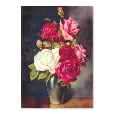 Roses In Vase by Found Image Press Art Print - Art Print - Americanflat