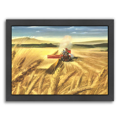 Threshing Machine by Found Image Press Framed Print - Wall Art - Americanflat