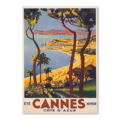 Travel Poster For Cannes by Found Image Press Art Print - Art Print - Americanflat
