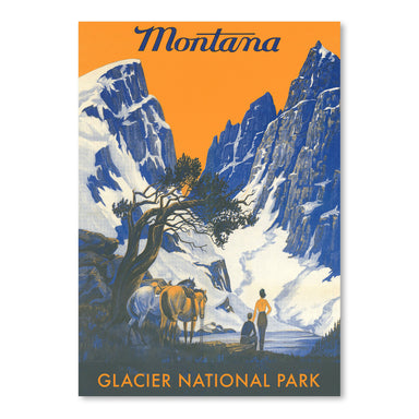 Travel Poster For Montana by Found Image Press Art Print - Art Print - Americanflat
