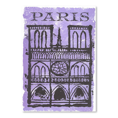 Travel Poster For Paris by Found Image Press Art Print - Art Print - Americanflat