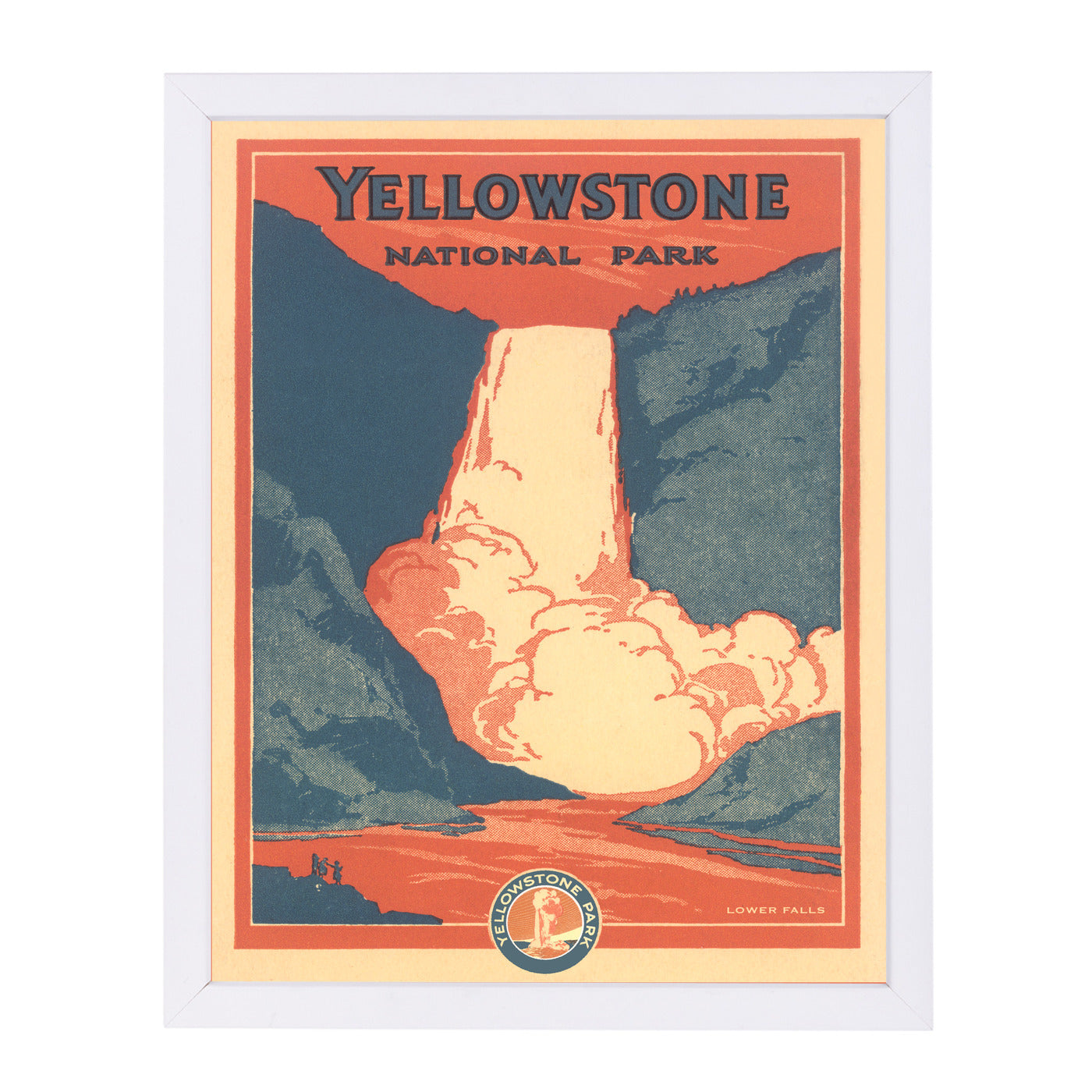 Travel Poster For Yellowstone by Found Image Press Framed Print - Americanflat