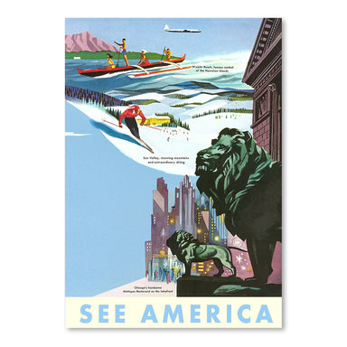 Travel Poster See America by Found Image Press Art Print - Art Print - Americanflat