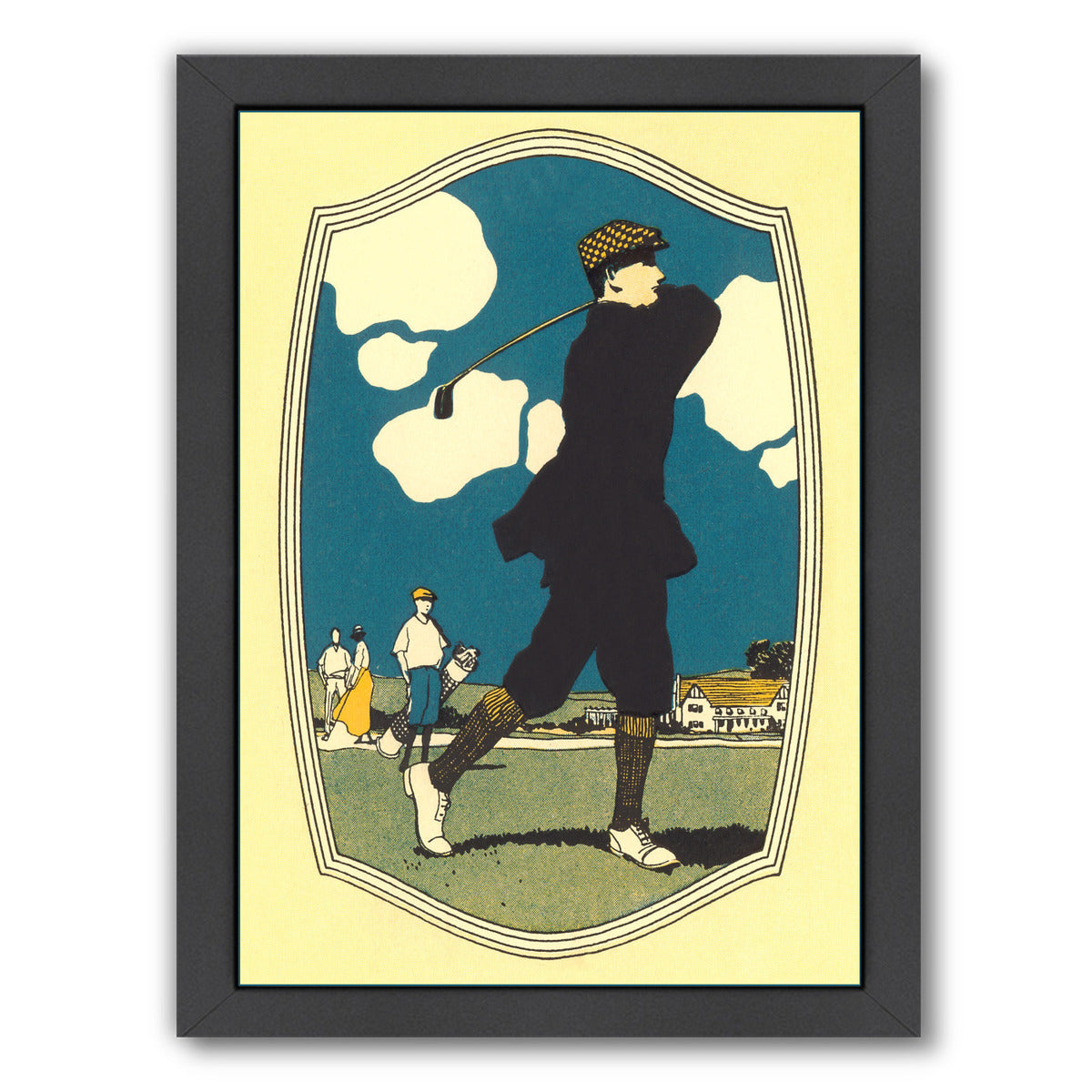 Vintage Golfers by Found Image Press Framed Print - Americanflat