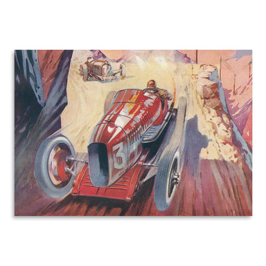 Vintage Racing Car by Found Image Press Art Print - Art Print - Americanflat