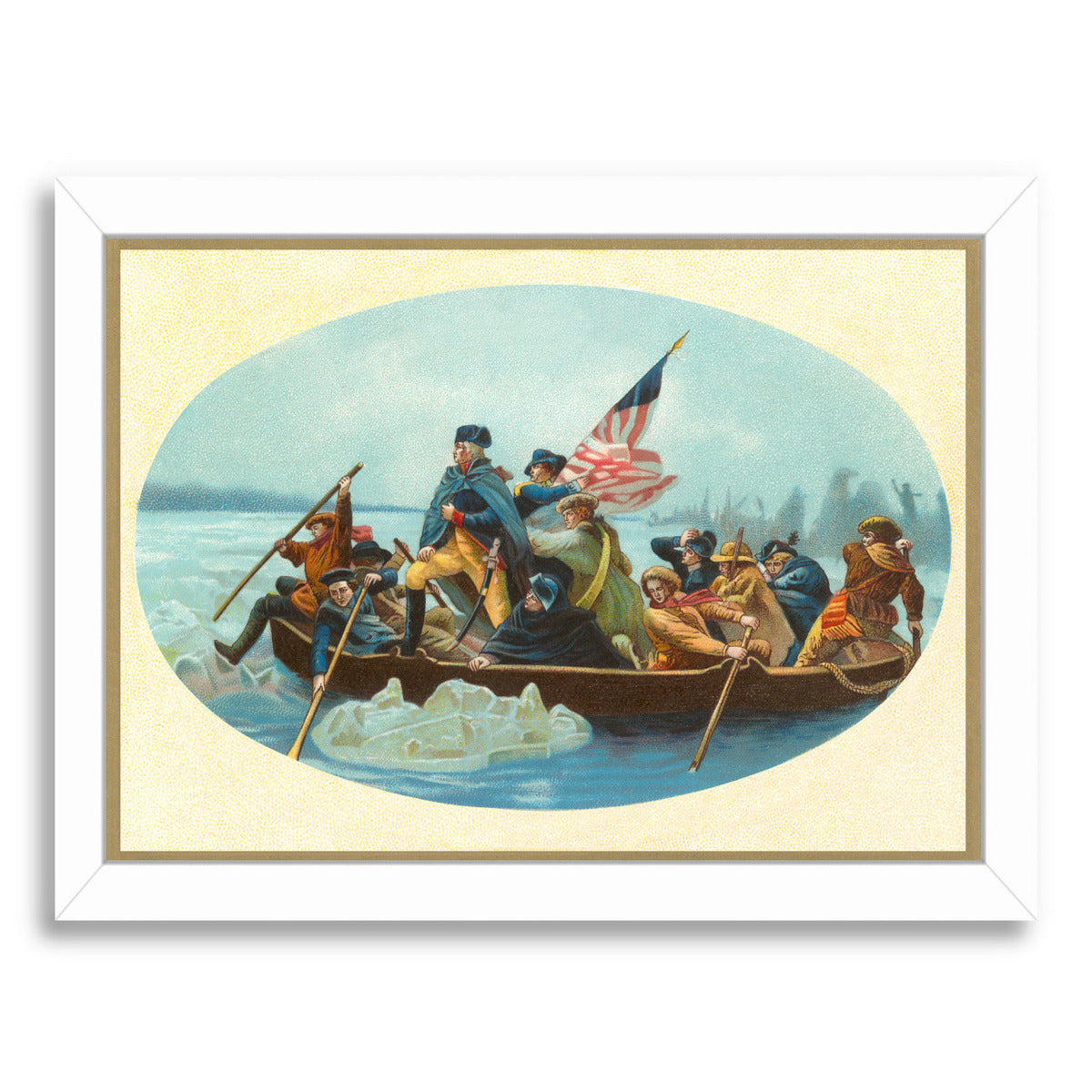 Washington Crossing The Delaware by Found Image Press Framed Print - Wall Art - Americanflat