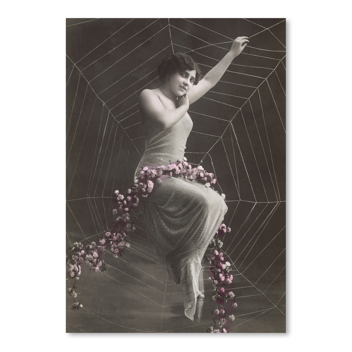Woman In Spider Web by Found Image Press Art Print - Art Print - Americanflat
