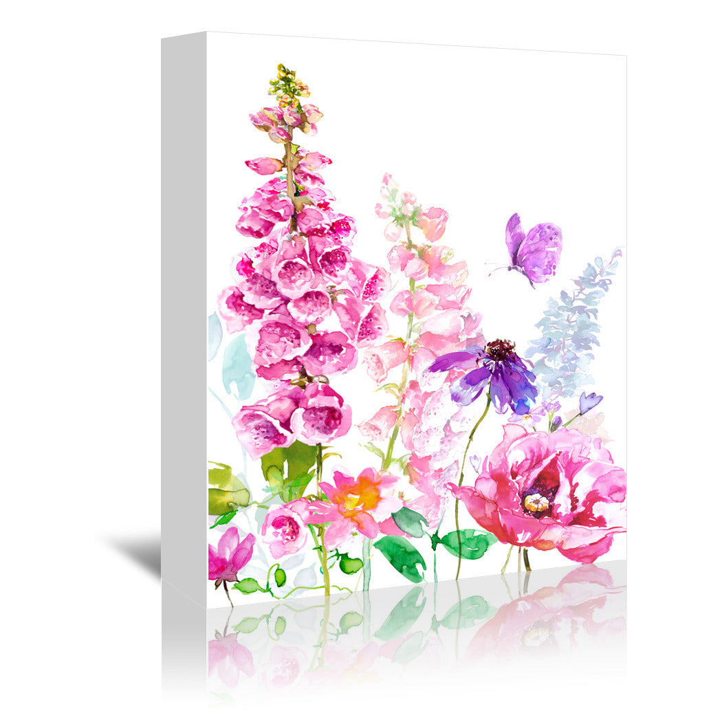 Foxglove Floral by Harrison Ripley Wrapped Canvas - Wrapped Canvas - Americanflat