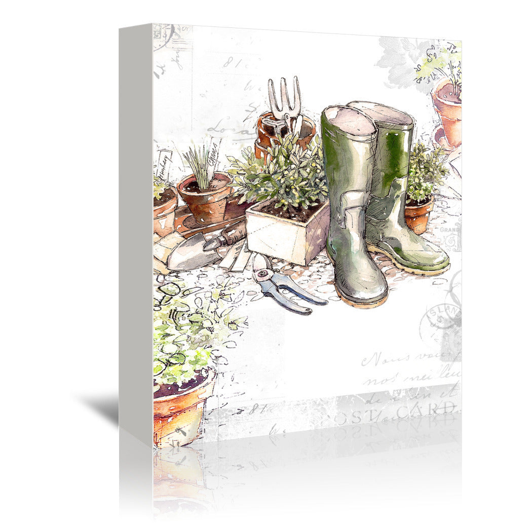 In The Garden by Harrison Ripley Wrapped Canvas - Wrapped Canvas - Americanflat