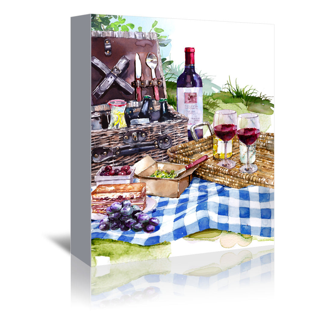 Picnic by Harrison Ripley Wrapped Canvas - Wrapped Canvas - Americanflat