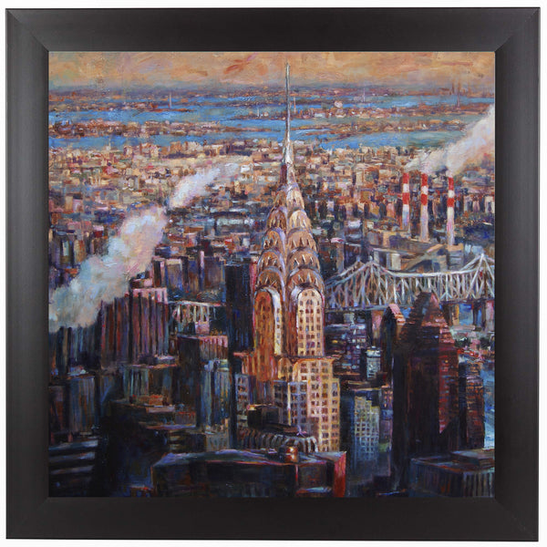 New York Sunset by Harrison Ripley Framed Print
