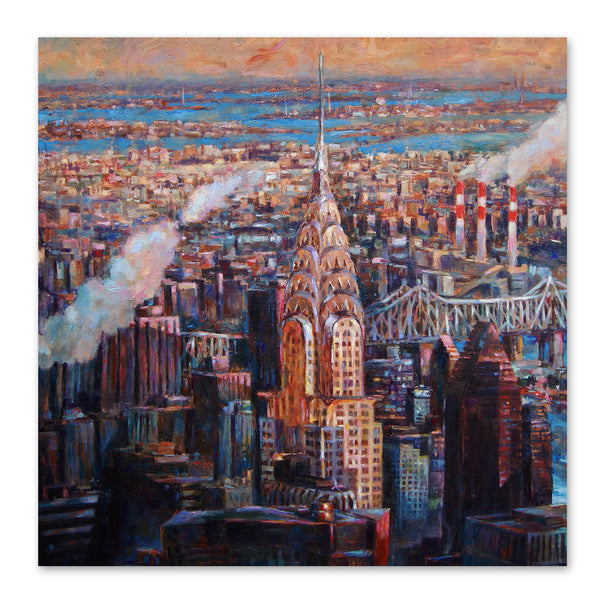 New York Sunset by Harrison Ripley Art Print