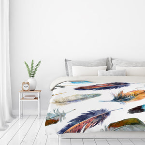 Feathers 2  by Harrison Ripley Duvet Cover