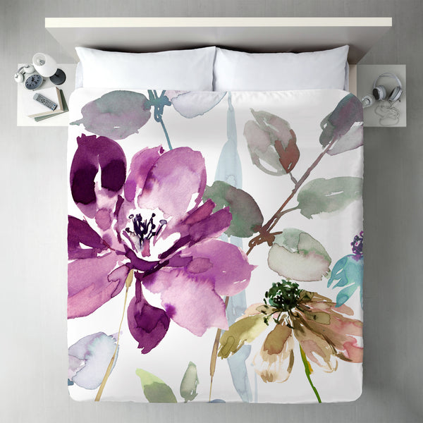 Floral Flourish by Harrison Ripley Duvet Cover