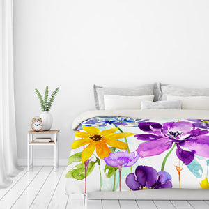 Floral Shimmer by Harrison Ripley Duvet Cover
