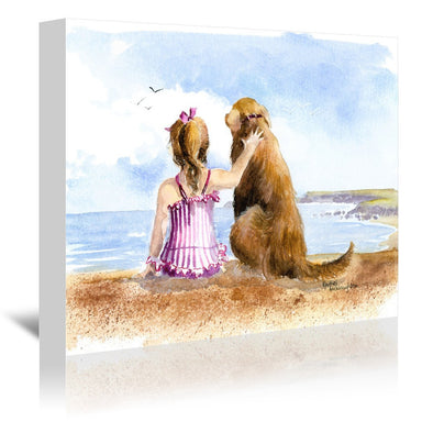 A Girls Best Friend by Rachel McNaughton Wrapped Canvas - Wrapped Canvas - Americanflat
