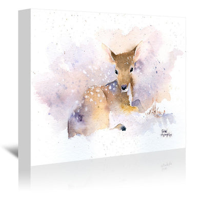 Baby Deer by Rachel McNaughton Wrapped Canvas - Wrapped Canvas - Americanflat