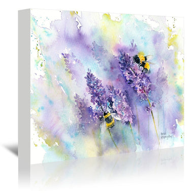 Bees And Lavender by Rachel McNaughton Wrapped Canvas - Wrapped Canvas - Americanflat